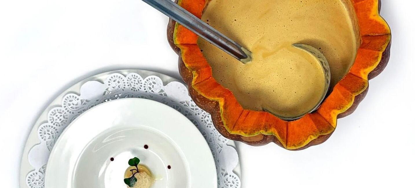 Cream of Prawn and Pumpkin Soup